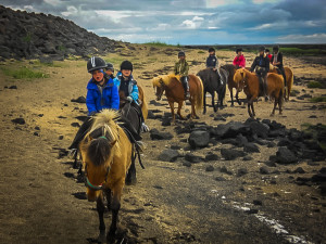 horse riding in Eyrarbakki with Bakkahestar